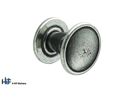 View K1062.30.PE Berwick Knob Polished Pewter Central Hole Centre  offered by HiF Kitchens