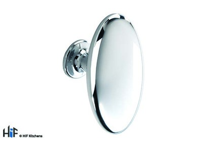 View K1068.64.CH Lythe Knob Polished Chrome Central Hole Centre offered by HiF Kitchens