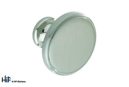 View K1107.35.SN Kitchen Cupboard Knob 35mm Satin Nickel offered by HiF Kitchens