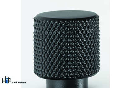 View K1111.20.MB Kitchen Knurled Knob 20mm Matt Black offered by HiF Kitchens