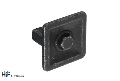 View K1112.35.MB Bromley Knob Handle Industrial Matt Black 16mm Hole Centre offered by HiF Kitchens