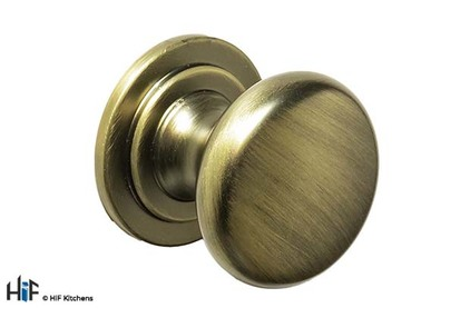 View K1118.31.AGB Harton Knob Handle Aged Brass offered by HiF Kitchens