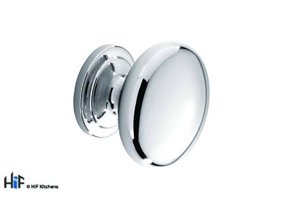 View K265.33.CH Barton Knob Polished Chrome Central Hole Centre offered by HiF Kitchens