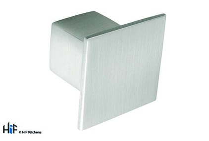 Added K353.36.SS Lea Knob Square Brushed Stainless Steel Effect To Basket