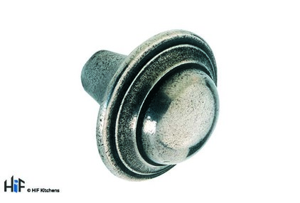 View K485.40.PE Loxley Knob Raw Pewter Central Hole Centre  offered by HiF Kitchens