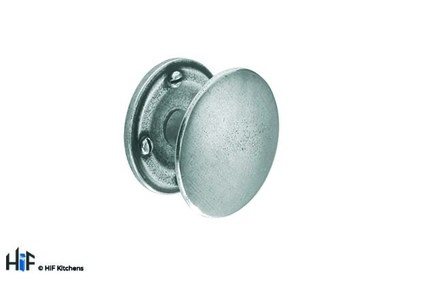 View K627.45.PE Warwick Knob Raw Pewter Central Hole Centre  offered by HiF Kitchens