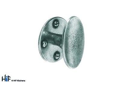 View K628.50.PE Barford Knob Raw Pewter Central Hole Centre offered by HiF Kitchens