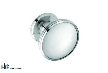 View K875.37.CH Knob Oval With 3 Line Detail Chrome 1909 offered by HiF Kitchens