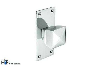 View K878.34.BN Knob Square With Rectangular Backplate Bright Nickel offered by HiF Kitchens