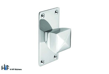 View K879.34.CH Knob Square With Rectangular Backplate 34mm Chrome offered by HiF Kitchens