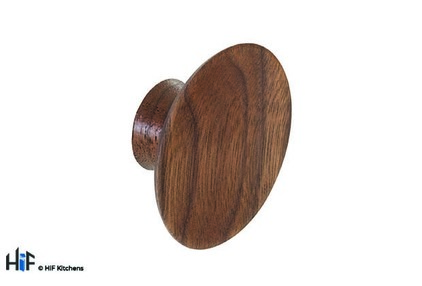 View K967.50.WA Knob Concave 50mm Diameter Walnut offered by HiF Kitchens