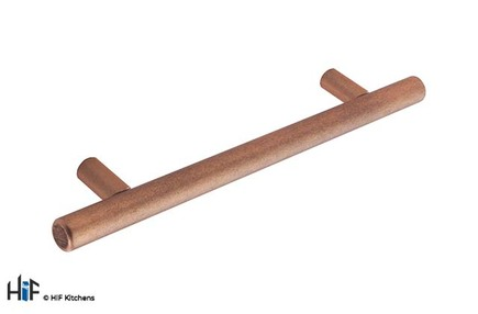 View H1084.128.AC Kitchen Bar Handle 128mm Antique Copper Effect offered by HiF Kitchens