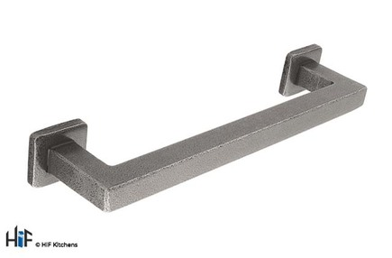 View H1099.160.HS Kitchen Pull Handle 160mm Hand forged Steel offered by HiF Kitchens