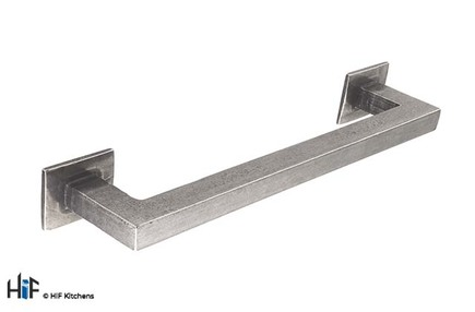 View H1102.160.PE Square D Handle 160mm Pewter  offered by HiF Kitchens