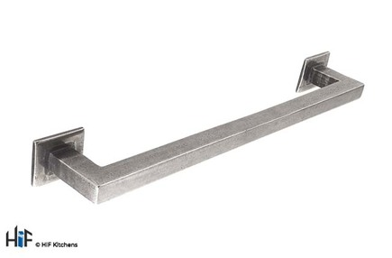 View H1102.224.PE Square D Handle 224mm Pewter  offered by HiF Kitchens