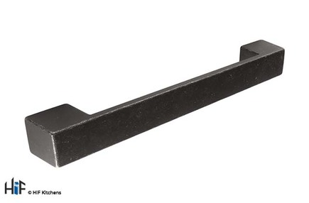 View H1115.160.MB Kilburn D Handle Industrial Matt Black 128mm Hole Centre offered by HiF Kitchens