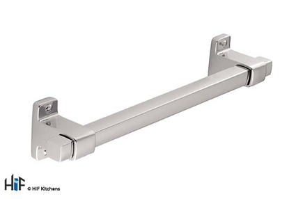 View H1128.160.CH Kitchen D Handle 160mm Chrome Finish offered by HiF Kitchens