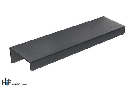 View H1131.90.MB Kitchen Trim Handle 130mm Wide Matt Black offered by HiF Kitchens