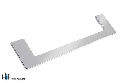 View H1132.160.CH D Handle 106mm Hole Centre Chrome Finish offered by HiF Kitchens