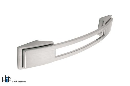 View H589.128.SS Kitchen Bowes Bow Handle Stainless Steel Effect offered by HiF Kitchens