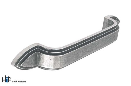 View H632.128.PE D Handle 128mm Pewter  offered by HiF Kitchens