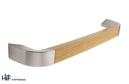 View H962.192.SSOA  D Handle Oak And Stainless Steel 192mm offered by HiF Kitchens