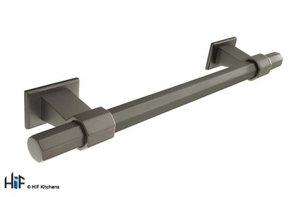 View H994.160.BS Bloomfield Bar Handle Satin Black 160mm Hole Centre offered by HiF Kitchens