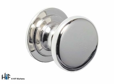 View K1118.31.BN Harton Knob Handle Bright Nickel Central Hole Centre offered by HiF Kitchens