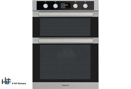 View Hotpoint DKD5 841 J C IX Multifunction Built-in Double Oven offered by HiF Kitchens
