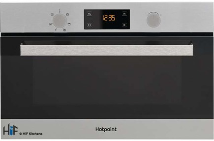 View Hotpoint MD344IXH Built-In Microwave Oven With Grill offered by HiF Kitchens