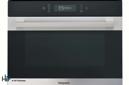 View Hotpoint MP776IXH Combination Microwave Oven offered by HiF Kitchens