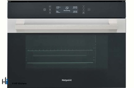 View Hotpoint MS 998 IX H Compact Steam Oven offered by HiF Kitchens