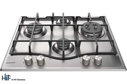 View Hotpoint PCN 641 TIXH 60cm Gas Hob Stainless Steel offered by HiF Kitchens