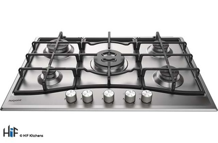 View Hotpoint PCN 751 T/IX/H 75cm Gas Hob offered by HiF Kitchens