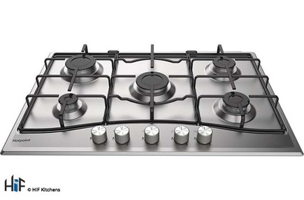 View Hotpoint PCN 752 U/IX/H 75cm Gas Hob offered by HiF Kitchens