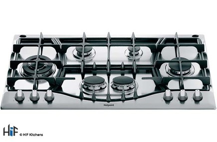 View Hotpoint PHC 961 TS/IX/H 90cm Gas Hob offered by HiF Kitchens