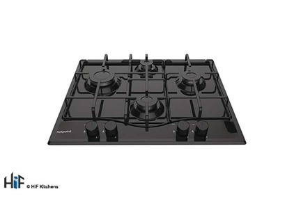 View Hotpoint PCN 642 /H(BK) 60cm Gas Hob offered by HiF Kitchens