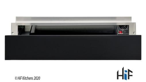 Hotpoint WD 914 NB Warming Drawer Black Glass Image