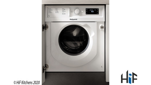 View Hotpoint BI WMHG 71484 UK Integrated Washing Machine offered by HiF Kitchens