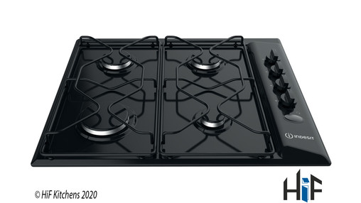 Indesit PAA642IBK UK Gas Hob In Black Image