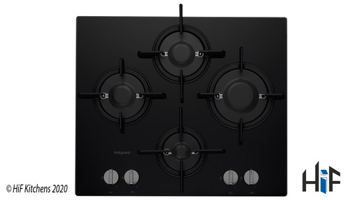 Hotpoint FTGHG641DHBK 60cm Gas On Glass Hob Image