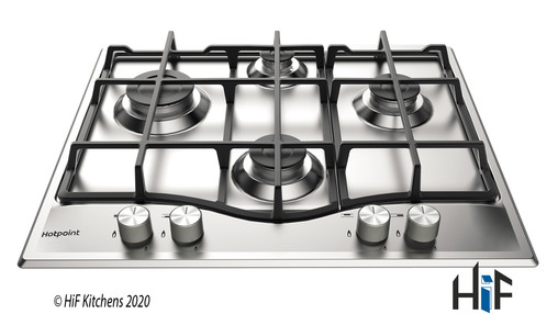 Hotpoint PCN641IXH 60cm Gas Hob Stainless Steel Image