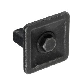 K1112.35.MB Kitchen Knob Handle 35mm Wide Industrial Matt Black Image