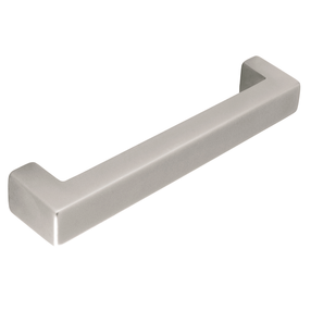 H003.160.SF Kitchen D Handle Bright Steel Effect Image
