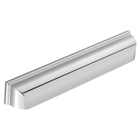 H1122.320.BN Elongated Cup Handle Square Detail 320mm Bright Nickel Image