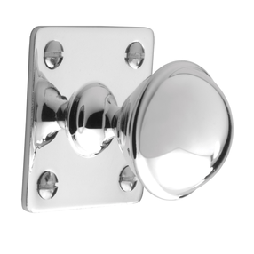 K1075.32.BN Classic Knob 32mm With Backplate Solid Brass Nickel Image