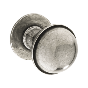 K1109.35.PE  Kitchen Knob With Stepped Detail 35mm Solid Pewter Image