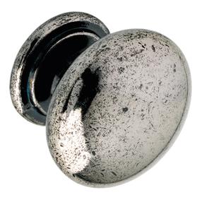 K265.33.PE Kitchen Knob 33mm Die-Cast Pewter Effect Image