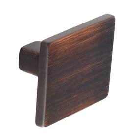 K557.35.BC Kitchen Square Knob 35mm Burnt Copper Effect Image