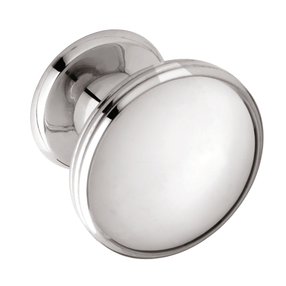 K874.37.BN  Knob Oval With 3 Line Detail 37mm Dia Bright Nickel Image